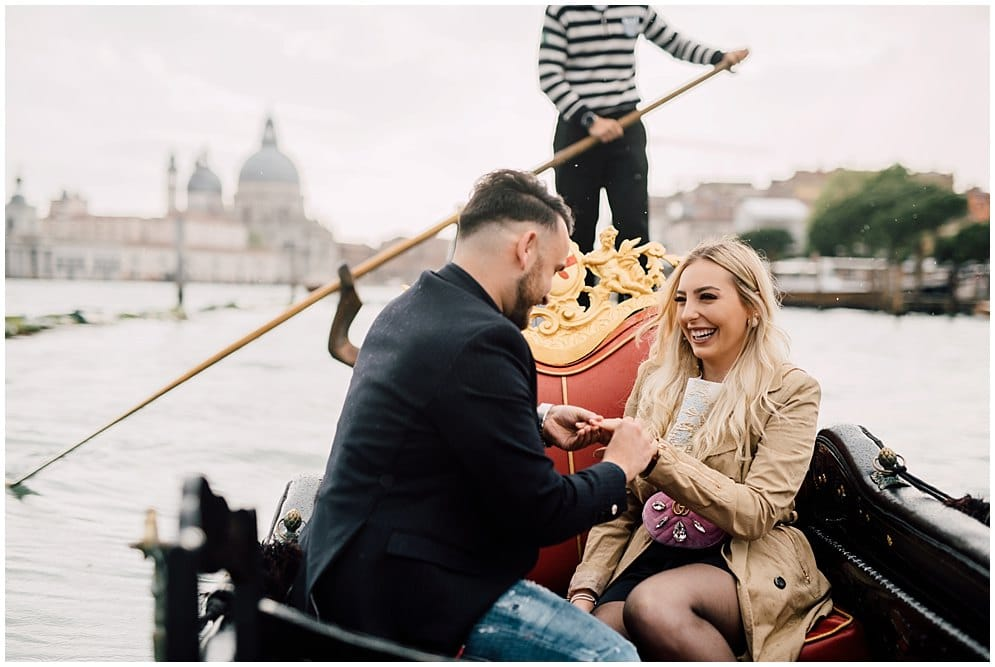 gondola proposal videographer